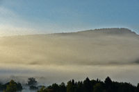 Fog in front of the swabian alb