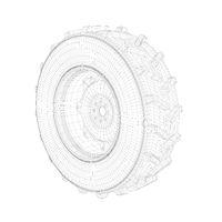 3D model of tractor wheel