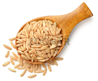 raw oats isolated on the white background, top view