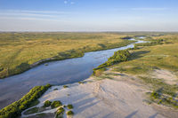 Dismal RIver meandering trough Nebraska Sandhills