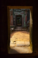 Ancient doorways in Angkor