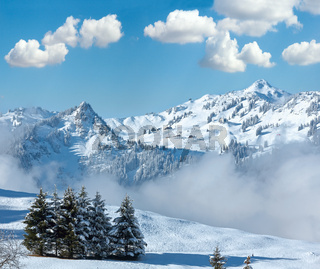 Winter mountain landscape, Austria, Bavaria