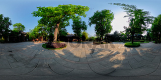 360 degree panorama of Wangjianglou Park. Chengdu, Sichuan, China