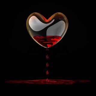 bleeding heart of glass