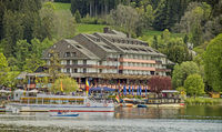 Titisee-Neustadt in the Black Forest with the district Titisee and hotel buildings