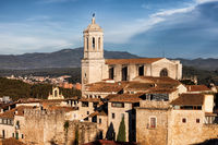 Girona Cathedral In The Old Town