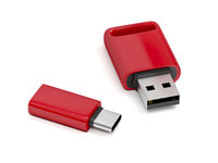 Red usb flash drives