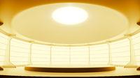 bright studio platform podium room