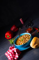 flaczki - fresh and spicy tripe soup with herbs