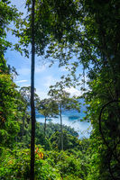 Cheow Lan Lake jungle landscape, Khao Sok, Thailand