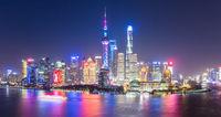night scene of shanghai skyline