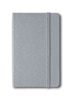 Grey closed notebook isolated on white