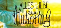 Child, Bouquet Of Daisy Flower, Calligraphy Muttertag Means Happy Mothers Day