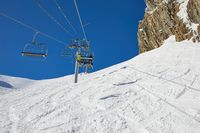 Ski lift at a ski resort, Val d'Allos