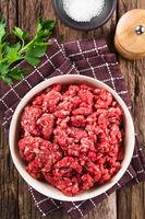 Fresh Raw Ground Beef Meat