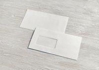 Blank paper envelopes