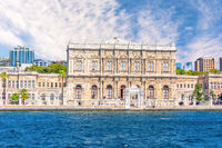 Dolmabahce Palace, view from the Bosphorus, Istanbul, Turkey