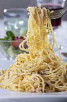 Spaghetti Carbonara auf einem Teller
