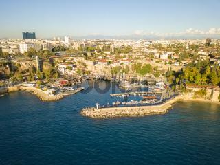 Aerial View Kaleici Old Town Harbor Antalya Turkey