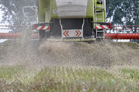 Combine harvester in actioner