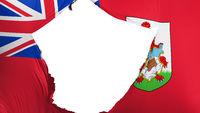 Cracked Bermuda flag