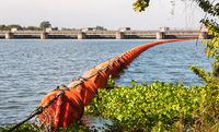 Orange Waste trap buoys