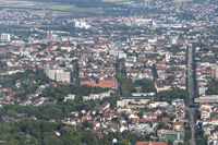 City view of Kassel from the air