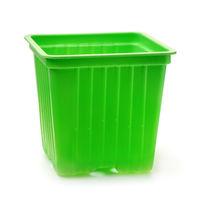 Green plastic seedlings nursery pots