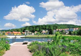 Park im Kurort Bad Liebenstein,Thueringer Wald,Thueringen,Deutschland