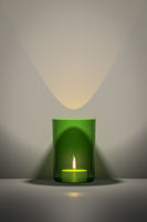 green candle with space for your content