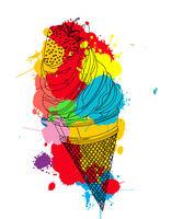 Straberry ice cream