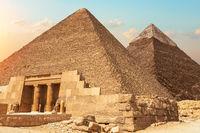 Mastaba of Seshemnefer IV and the Pyramids of Giza, Egypt