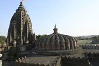 Low height shikhara over mandapam and high shikhara over Garbhagriha at Vitthal Temple, Palashi, Parner, Ahmednagar