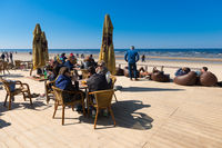 Cafe on the beach in Jurmala, Latvia
