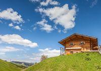 Alpine huts on the Alpe di Siusi