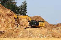 Gold mine quarry opencast excavator