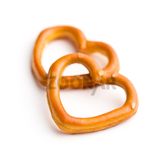 Heart shaped pretzel.