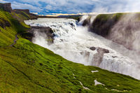 Waterfall in tundra - Gullfoss