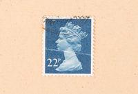 UNITED KINGDOM - CIRCA 1980: A stamp printed in the United Kingdom shows queen Elizabeth, circa 1980