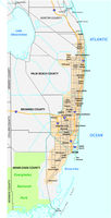 Miami metropolitan area or Greater Miami Area map