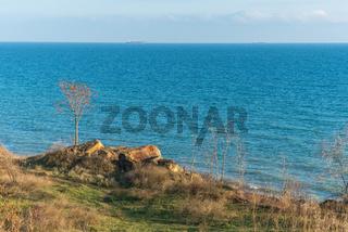 Deserted Black Sea Coast on a Fall Day