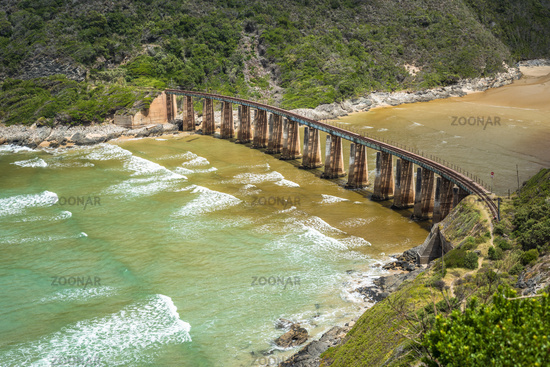Kaaimans River Railway Bridge, Wilderness, Garden Route, South Africa
