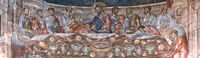 The Last Supper,fresco in the central dome of the basilica at the St. George monastery,Ubisa,Georgia