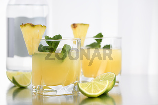 Gin with pineapple