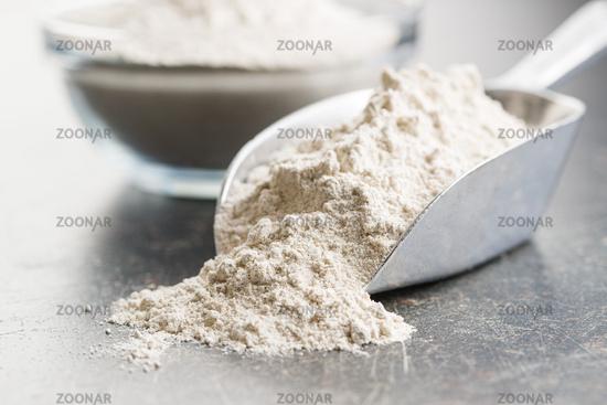 Whole grain wheat flour.