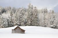 Winter landscape near Fischen/Allgäu