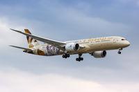 Etihad Airways Boeing 787-9 Dreamliner airplane