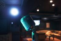Retro music microphone