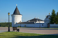 Orlovskaya tower and Northern Holy Gates of Tobolsk Kremlin. Tobolsk. Tyumen Oblast. Russia