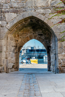 The walled medieval town of Concarneau